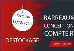 DÉSTOCKAGE BARREAUX FABRICATION COMPTE.R