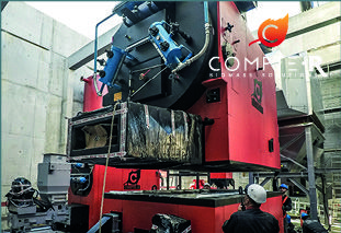 HEATING PLANT OF BARBY HAS RECEIVED ITS WOOD BOILERS